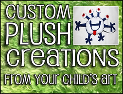 custom plush from your child's art