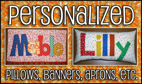 personalized banners and pillows